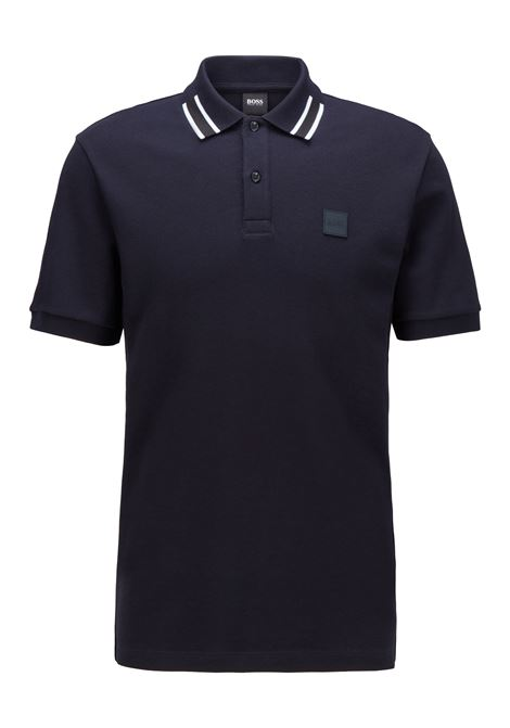 Mercerized cotton polo shirt with contrasting collar BOSS | Polo Shirt | 50442135402