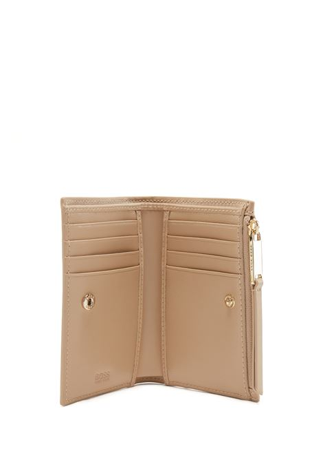 Snap closure wallet in leather with metal detail BOSS | Wallet | 50443025266