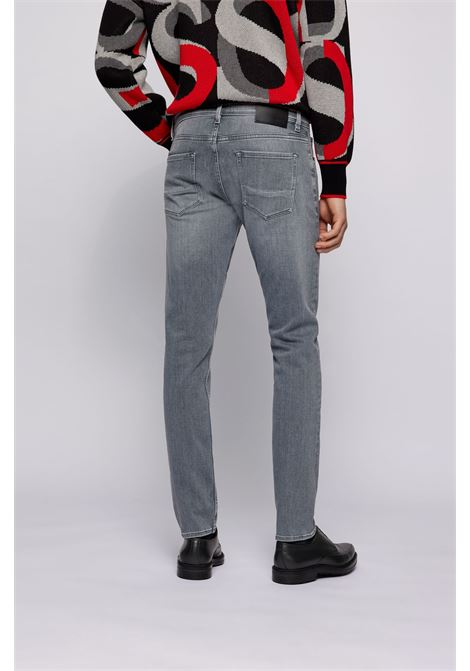 Extra slim fit jeans in soft gray denim BOSS | Jeans | 50446268052