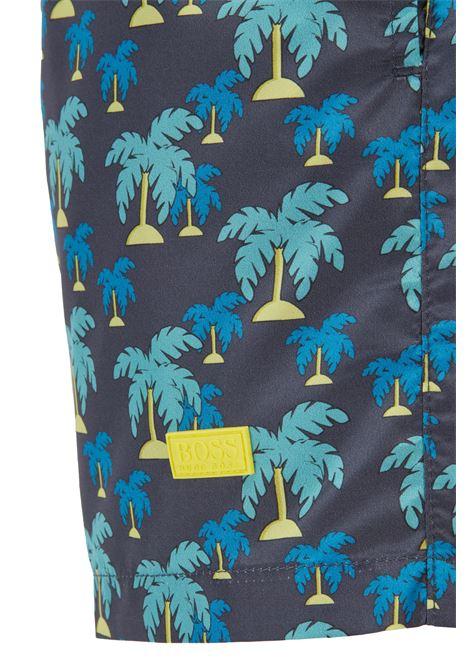 Boxer da mare in tessuto fantasia ad asciugatura rapida BOSS | Costumi | 50446584024