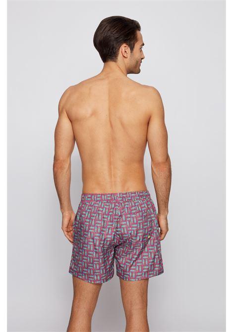 Boxer da mare in tessuto fantasia ad asciugatura rapida BOSS | Costumi | 50446584667