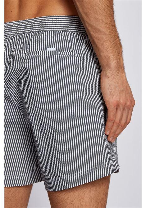 Boxer da mare in tessuto a righe ad asciugatura rapida BOSS | Beachwear | 50446586024