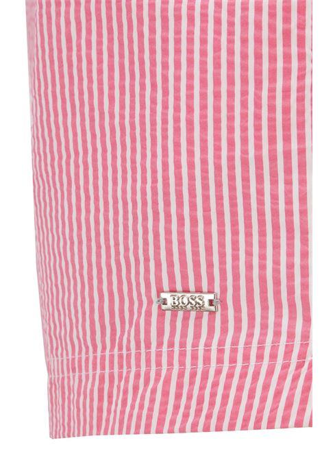Boxer da mare in tessuto a righe ad asciugatura rapida BOSS | Costumi | 50446586667