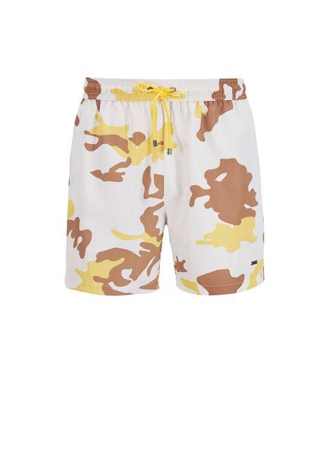 Boxer da mare in tessuto riciclato ad asciugatura rapida con stampa camouflage BOSS | Costumi | 50446587118