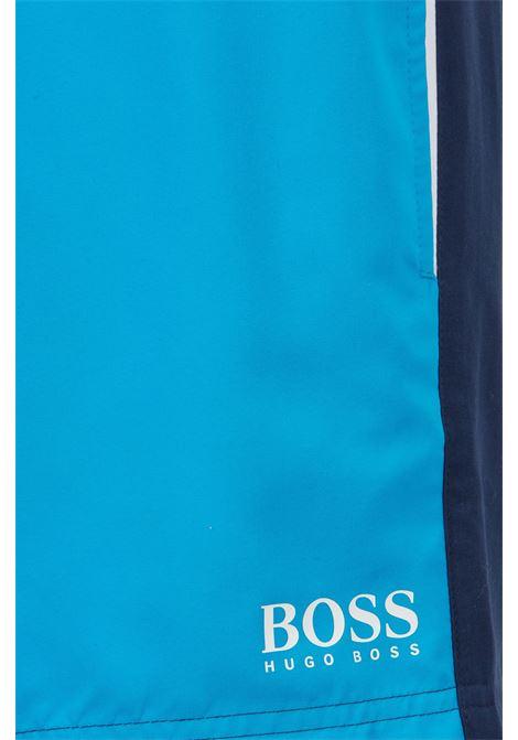 Telo mare e pantaloncini da bagno in borsa con coulisse logata BOSS | Costumi | 50446615438