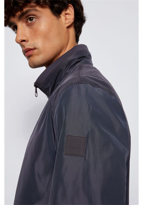 Water repellent bomber jacket with logo on the closure BOSS | Jackets | 50446838402