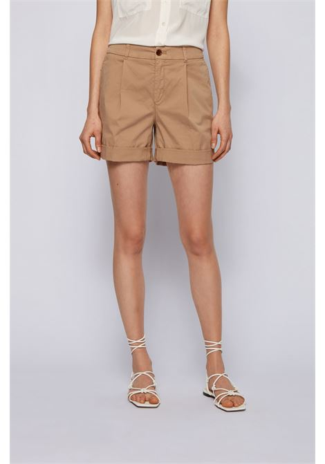 Shorts chino relaxed fit in cotone elasticizzato biologico BOSS | Shorts | 50447263262