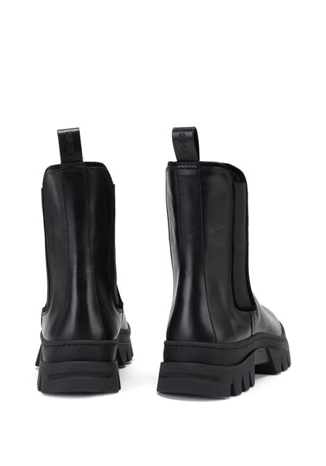 Italian-leather Chelsea boots with rubber lug sole BOSS | Ankle Boots | 50447456001