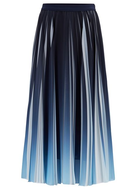 Pleated midi skirt in chiffon with dégradé print BOSS | Skirts | 50447599466