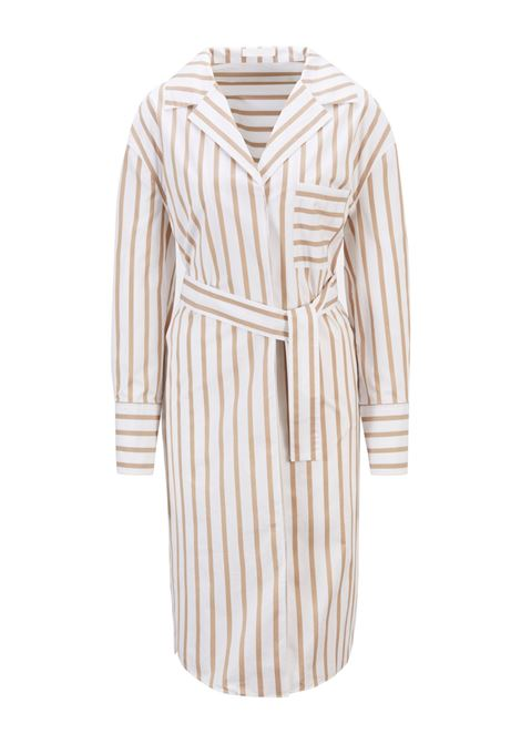 Comfort fit shirt dress in striped stretch cotton poplin BOSS |  | 50447726262