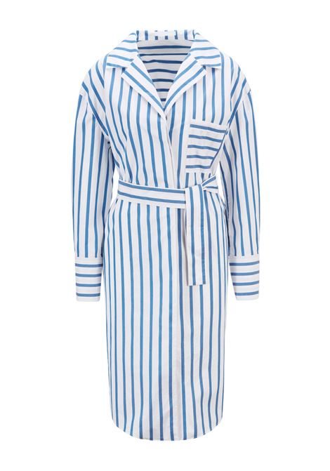 Comfort fit shirt dress in striped stretch cotton poplin BOSS |  | 50447726476