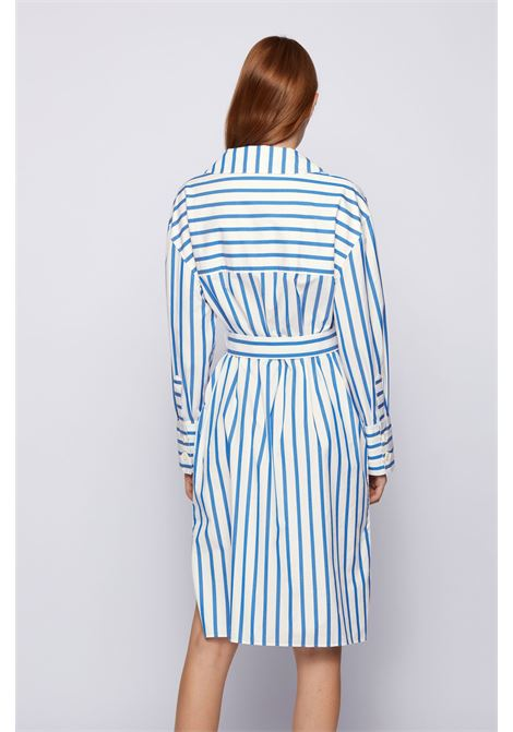 Comfort fit shirt dress in striped stretch cotton poplin BOSS |  | 50447726476