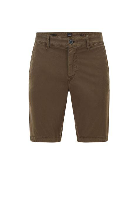 Bermuda slim fit in twill di cotone elasticizzato BOSS | Shorts | 50447772342