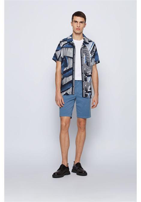 Bermuda slim fit in twill di cotone elasticizzato BOSS | Shorts | 50447772489