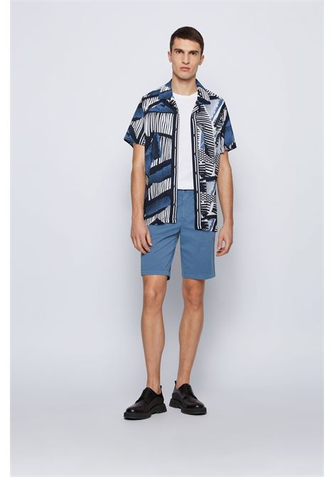 Slim fit Bermuda shorts in stretch cotton twill BOSS | Shorts | 50447772489