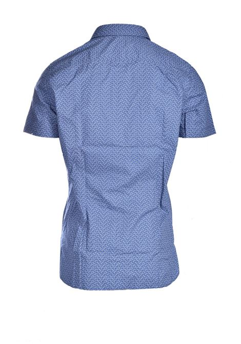 Regular fit short sleeve shirt in micro-pattern BOSS | Shirts | 50447950489