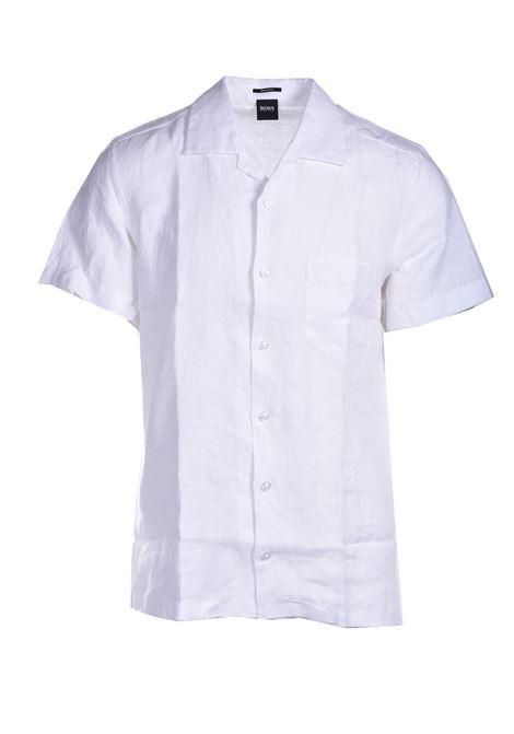 Regular fit short sleeve shirt in pure linen BOSS | Shirts | 50447959100