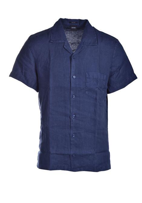 Regular fit short sleeve shirt in pure linen BOSS | Shirts | 50447959404