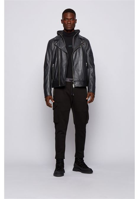Asymmetric biker jacket in lambskin BOSS | Jackets | 50448037001