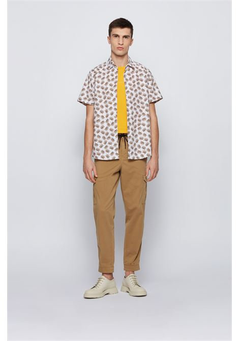Regular fit shirt in printed stretch cotton BOSS | Shirts | 50448073263