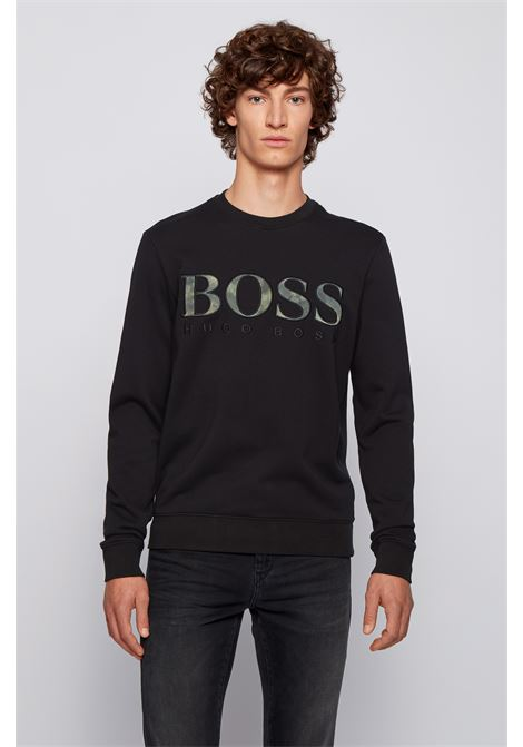 Felpa relaxed fit in cotone con logo e ricamo BOSS | Felpe | 50448138001