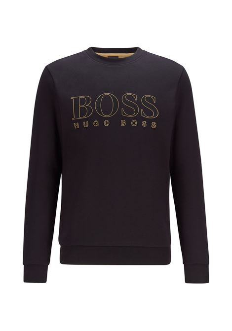 Slim fit sweatshirt in woven cotton blend with printed logo BOSS | Sweatshirt | 50448186001