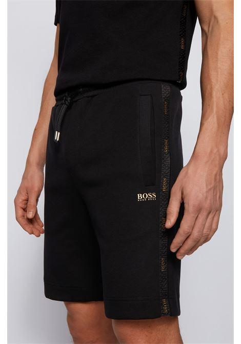 Bermuda in misto cotone con logo dorato BOSS | Shorts | 50448199001