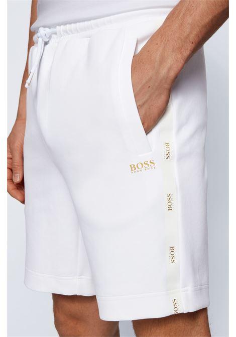 Bermuda in misto cotone con logo dorato BOSS | Shorts | 50448199100
