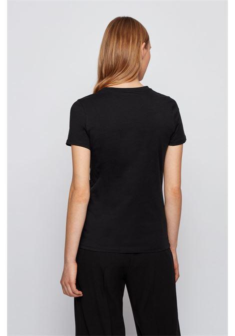 Regular fit T-shirt in organic cotton with dégradé logo BOSS | T-shirt | 50448512001