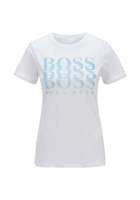 T-shirt regular fit in cotone biologico con logo dégradé BOSS | T-shirt | 50448512100