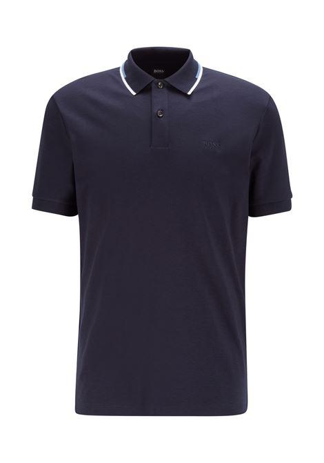 Polo regular fit con colletto a righe BOSS | Polo | 50448657402