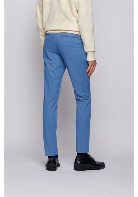 Chino slim fit in dobby di cotone elasticizzato BOSS | Pantaloni | 50448732489