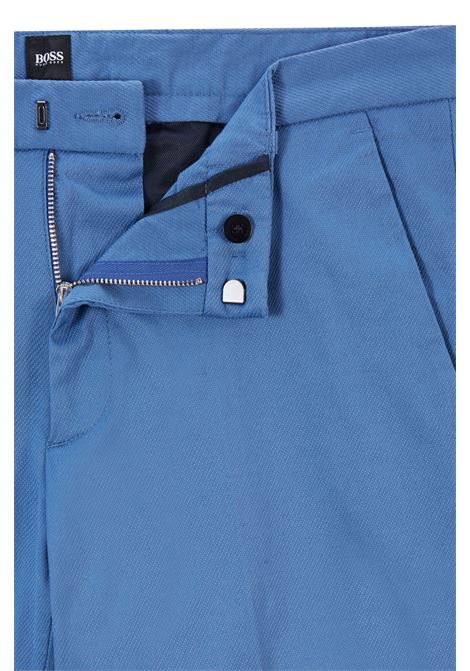 Slim fit chinos in stretch cotton dobby BOSS | Pants | 50448732489