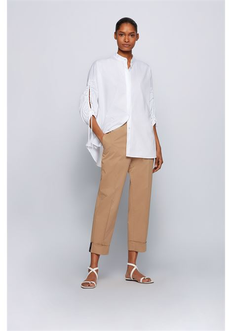 Cotton poplin baggy trousers BOSS | Pants | 50448737262