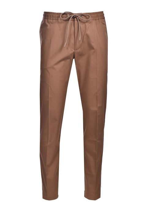 Slim fit cotton poplin trousers with paper-touch finish BOSS | Pants | 50448739268