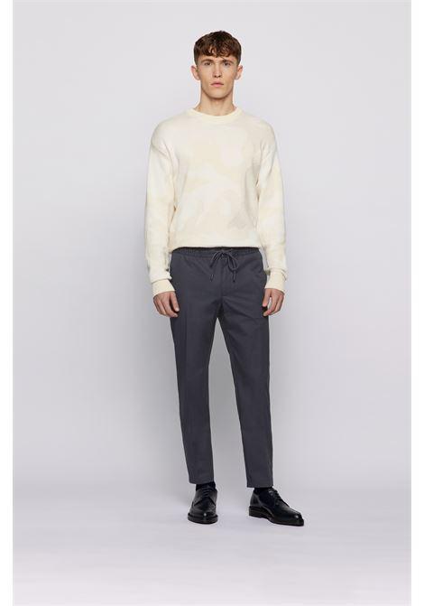 Pantaloni slim fit in popeline di cotone con finitura paper-touch BOSS | Pantaloni | 50448739402
