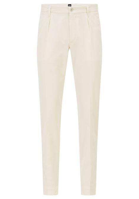 Pantaloni slim fit in popeline di cotone paper-touch BOSS | Pantaloni | 50448750118