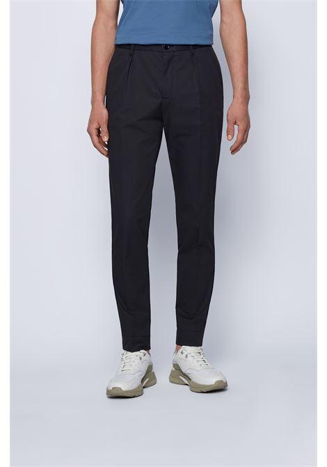 Slim-fit trousers in paper-touch cotton poplin BOSS | Pants | 50448750402