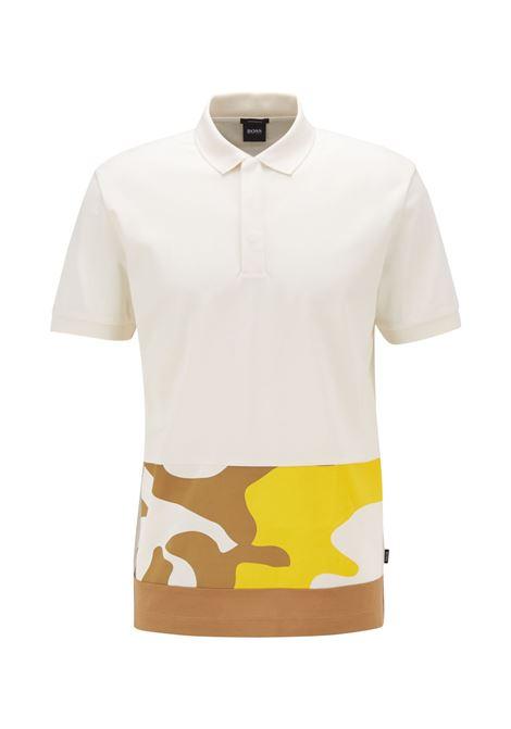 Polo in cotone con pannello con stampa camouflage BOSS | Polo | 50448884118