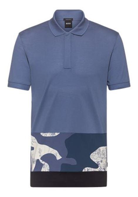 Polo in cotone con pannello con stampa camouflage BOSS | Polo | 50448884489