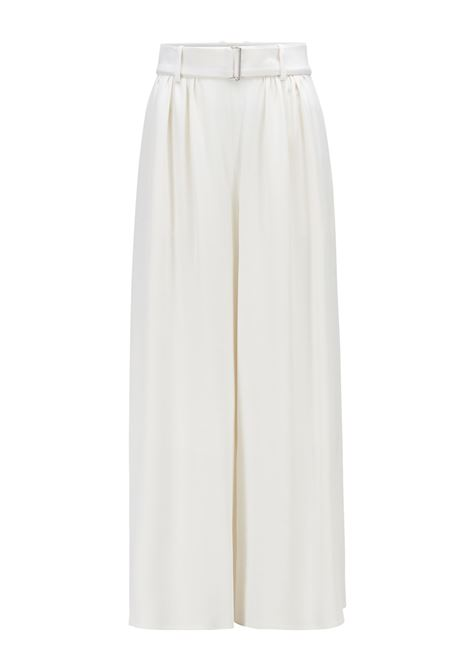 High-waisted culottes in Italian crêpe with satin back BOSS   Pants   50448958118