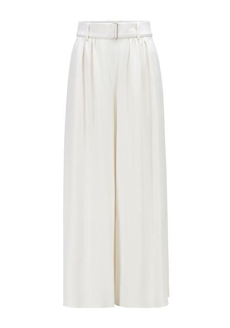 Pantaloni culotte vita alta in crêpe italiano con rovescio in raso BOSS | Pantaloni | 50448958118