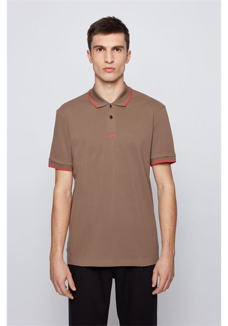 Polo in piqué di cotone con logo a sette strati BOSS | Polo | 50449367250