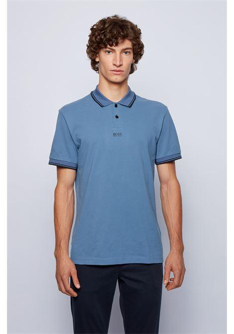 Cotton piqué polo shirt with seven-layer logo BOSS | Polo Shirt | 50449367489