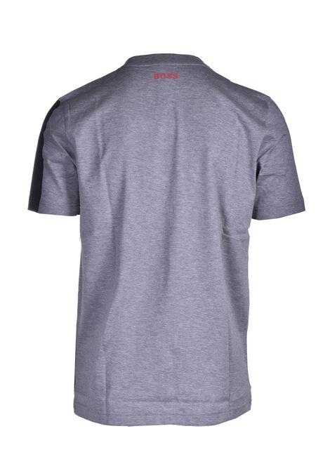 T-shirt in cotone mercerizzato con logo all over BOSS | T-shirt | 50449450041