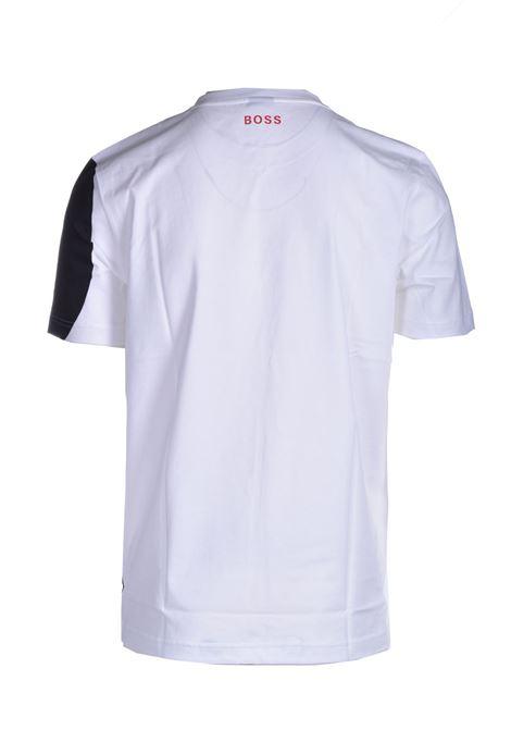 T-shirt in cotone mercerizzato con logo all over BOSS | T-shirt | 50449450100