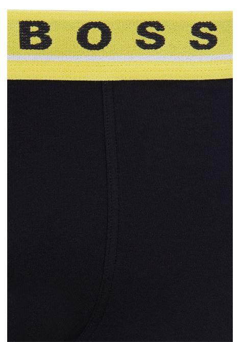 Boxer in cotone elasticizzato con elastico in vita in confezione da tre BOSS | Intimo | 50449458985
