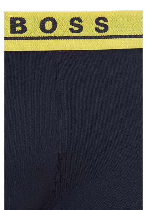 Boxer in cotone elasticizzato con elastico in vita in confezione da tre BOSS | Intimo | 50449458986
