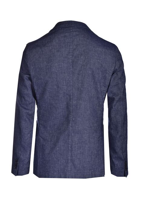 Slim fit jacket in cotton and linen with two buttons BOSS | Blazers | 50450238497