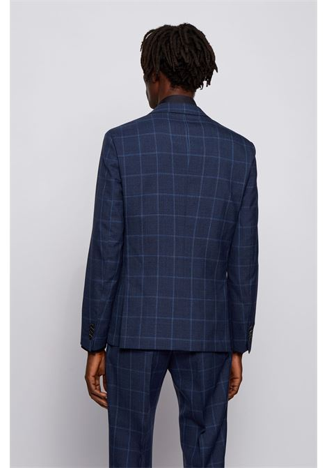 Slim fit jacket in checked virgin wool BOSS | Blazers | 50450239497